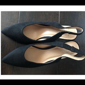 A New Day Black Nettie Vamp Heels